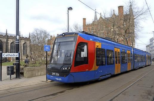 trams sheffield
