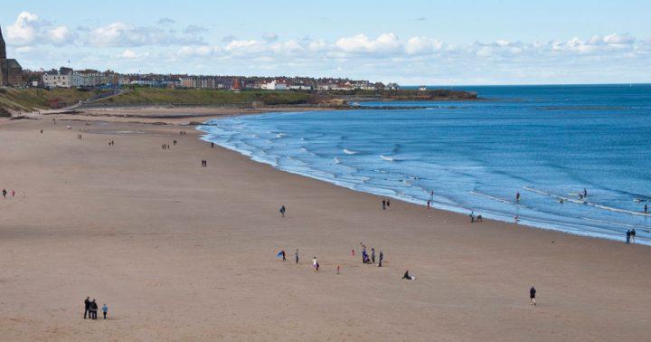 Tynemouth beach newcastle gateshead
