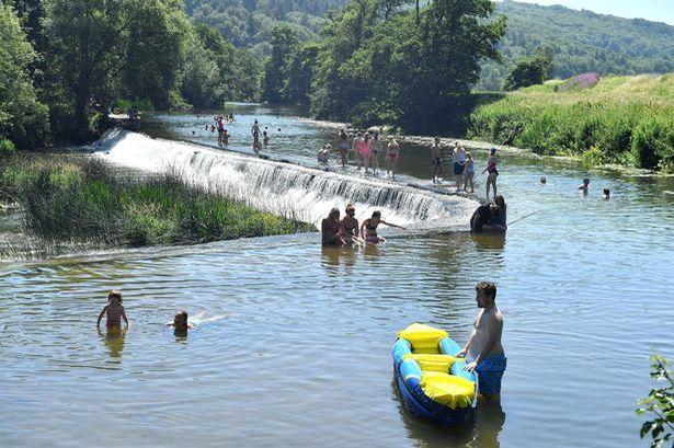 Saltford Weir swimming