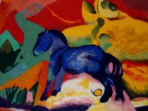 Kleines blaues Pferd von Franz Marc
