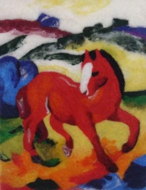 Rotes Pferd von Franz Marc