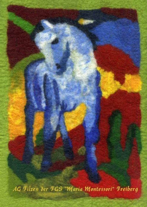 Blaues Pferd