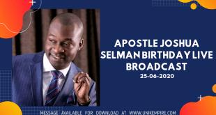The Principles of Trans-Generational Impact by Apostle Joshua Selman Birthday Live Broadcast