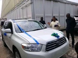 Dr. David Ogbueli Gifts Ven. Oliver Ofoegbu Brand New Car