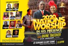 Dunamis International Gospel Centre to host William McDowell, Sinach, Nathaniel Bassey, Chioma Jesus, Prospa Ochimana, Dunsin Oyekan and others at the Dunamis Glory Dome Abuja, Nigeria.