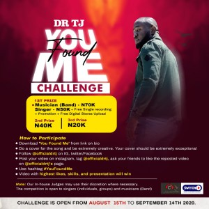 Dr Tj throws open The You Found Me Challenge for singers and Musicians