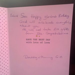 Nathaniel Bassey Receives Surprise Birthday Note From Pastor E.A Adeboye And Wife