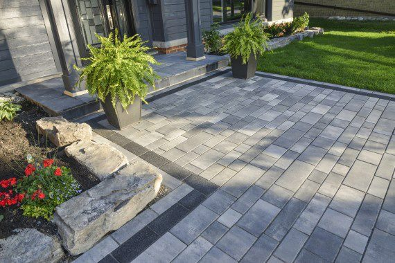 patio pavers modern landscape