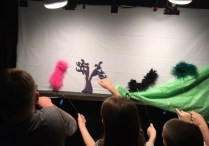 Backstage view of workshop caterpillars