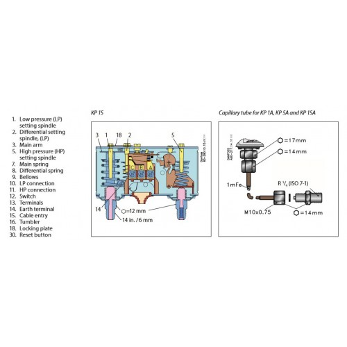 danfoss pressure transmitter mbs 3000 wiring diagram 12 volt relay symbols dual switch kp 15