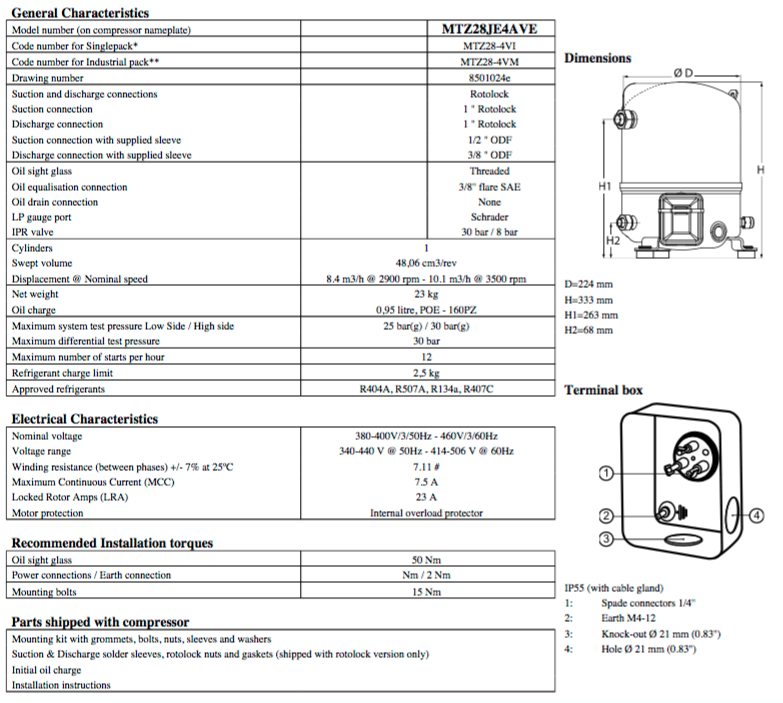 danfoss pressure transmitter mbs 3000 wiring diagram winch control maneurop reciprocating compressor mtz28je4ave nominal capacity for r404a and r134a available at participating johnstone locations only