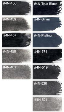 Compare Black Wash and Grey Inks Talens