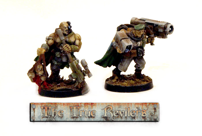 First two scouts - a sniper and sergeant with a missile launcher. I plan to have at least 2 sniper scout teams.