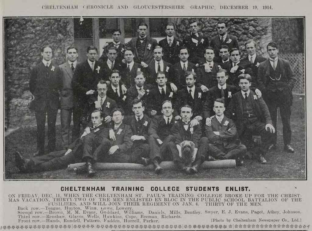 University of Gloucestershire World War 1