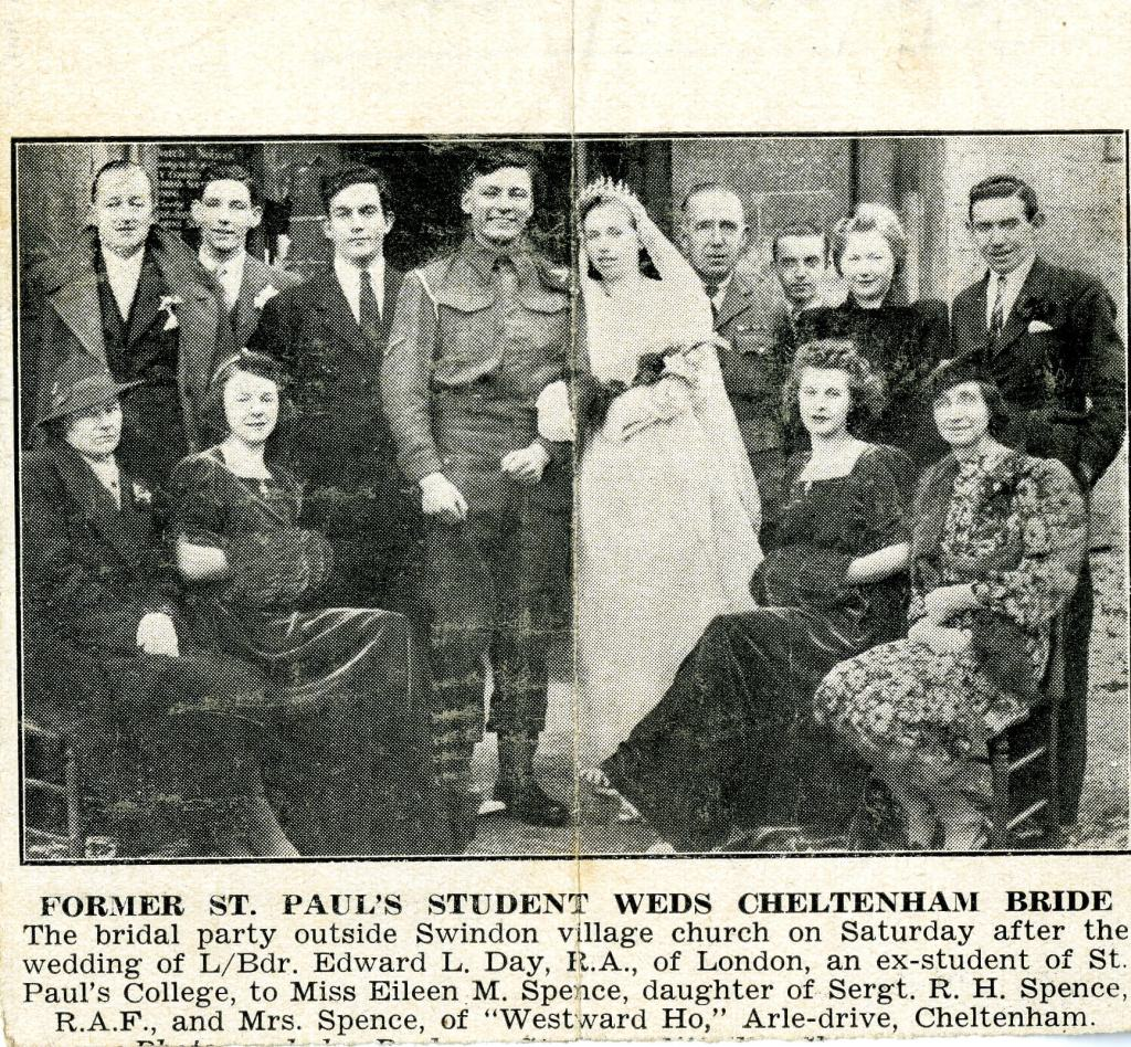 St Paul's student wedding in 1942 [Image from the Special Collections and Archives, University of Gloucestershire]