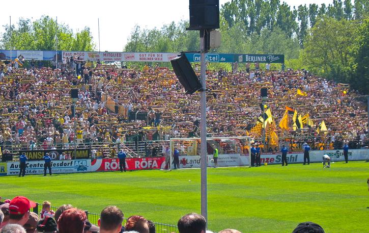 Dresden fans at the Alte Försterei