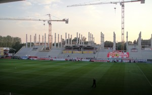 Main stand construction