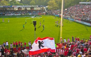 Fans celebrate win vs. Babelsberg