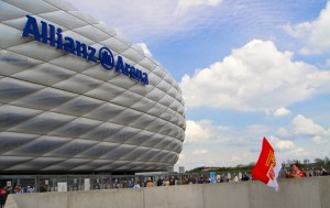 Union fans at Allianz Arena