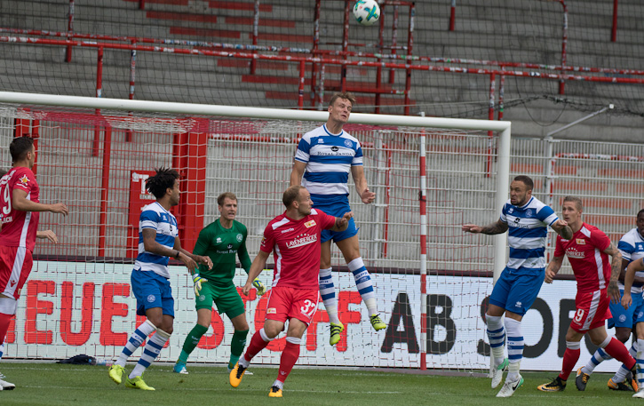 Union corner in the first half