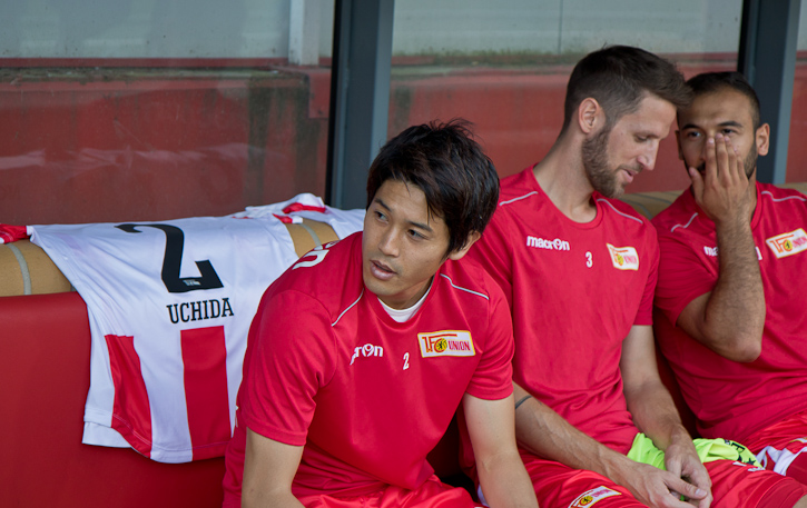 Uchida and Gogia on the bench