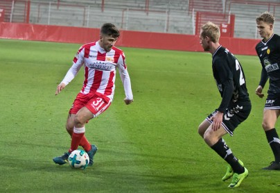 Berkan Taz was put on in the second half