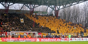 Dresden away end was always packed