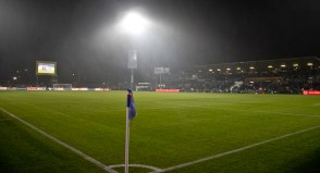 Holstein Stadion in the drizzle