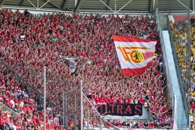 Away end in red