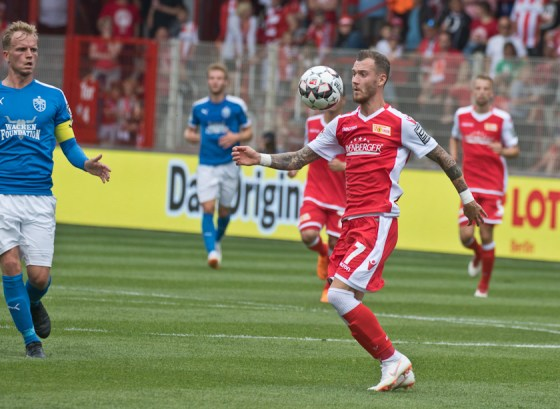 Hartel in action in the first half