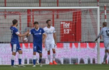 Christian Skoda celebrating his goal