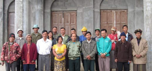 Chin farmers learn sustinable argiculture skills from 2010 alumni Betty Ram Nawn (Back row 3rd from left)