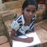 Dalit girl writing