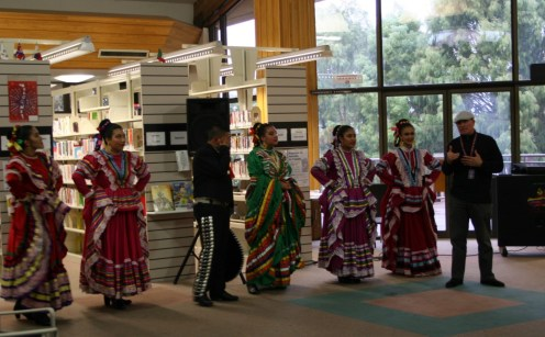 The Logan Folklórico performers with founder Mr. Huertas, far right.