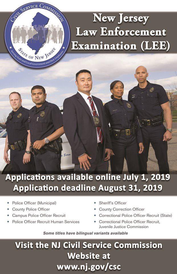 jersey law enforcement examination lee union city police department