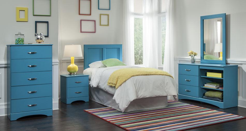 Childrens Bedroom Set  Blue  Union Furniture Company
