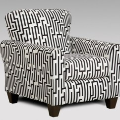 Black And White Accent Chairs With Arms Overstuffed Chair A Half Union Furniture Company Livingroom Maze