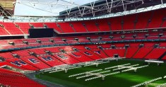 Wembley Stadium! Home of the English National Football team.