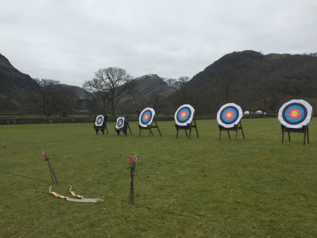 A little archery on the last day (I was terrible)