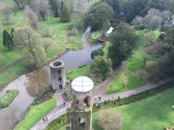 Looking out on the spectacular grounds below Blarney Castle.
