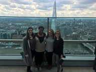 This is a picture from my trip to the Sky Garden with great friends. You can see the Shard (another London skyscraper) behind us.