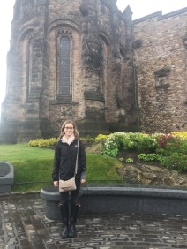Here I am in front of the building at Edinburgh Castle that houses a lovely memorial for war veterans.