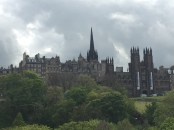 This is the view from the Princes Street park.