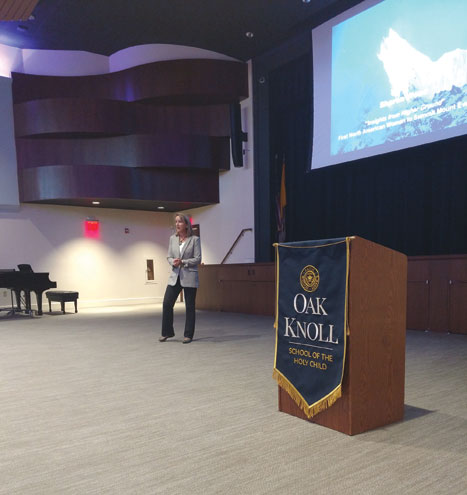 Everest climber regales Oak Knoll School with tale of achievement