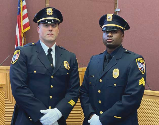 Two Roselle police officers promoted in special ceremony