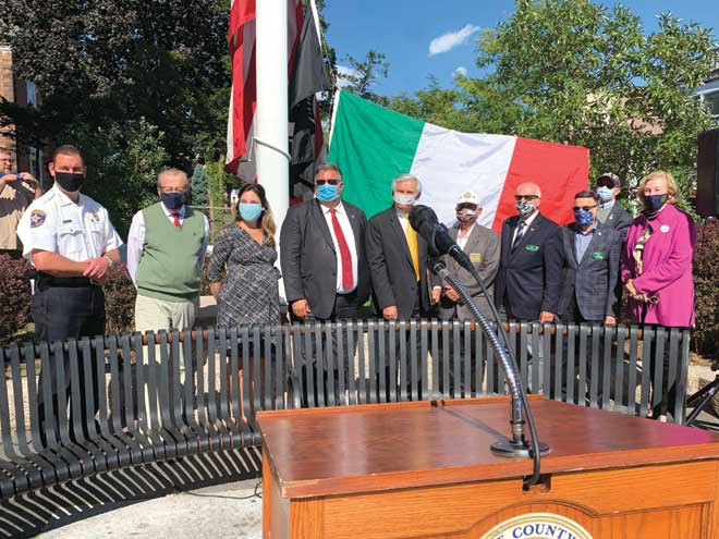 Union County hosts 12th annual Columbus Day flag-raising