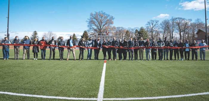 Union County freeholders, UCIA cut ribbon on new Oak Ridge Park Athletic Field