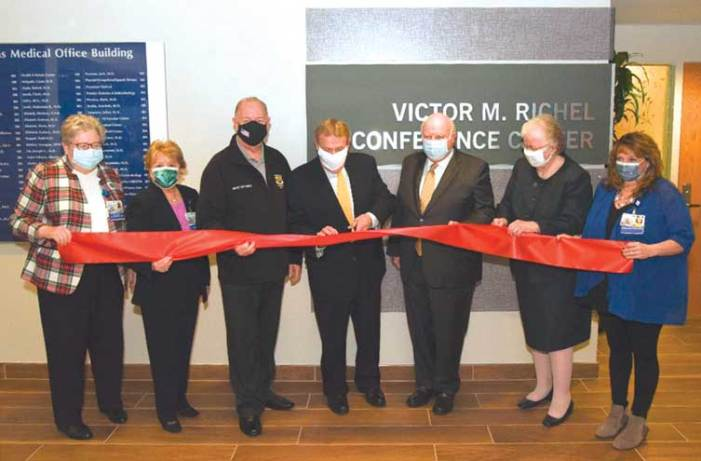 New conference center at Trinitas named for Victor M. Richel