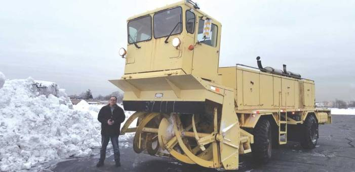 Linden Airport manager spends long hours plowing snow