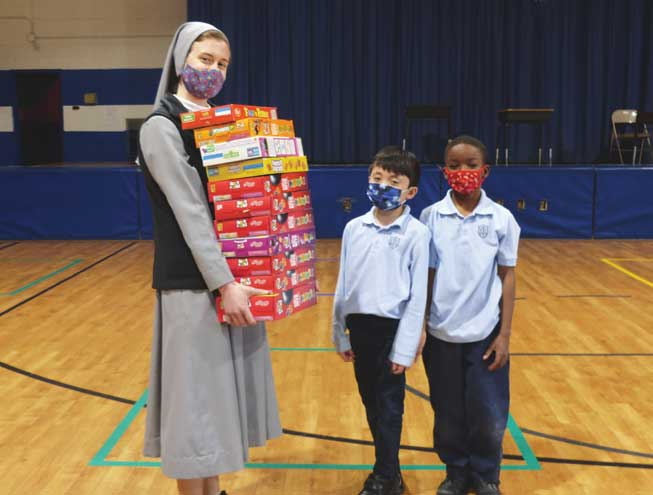 Kenilworth students collect cereal for St. Theresa Food Pantry